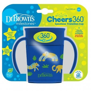 Gertuvė Dr.Brown's DECO CHEERS 360 2