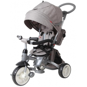 Triratukas 6 in 1 LITTLE TIGER T-500, GREY MELANGE, SUN BABY