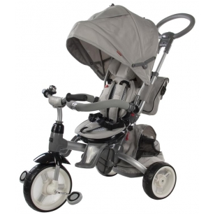 Triratukas 6 in 1 LITTLE TIGER T-500, GREY, SUN BABY