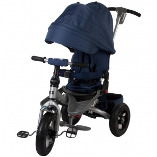 Triratukas Sun Baby QPLAY 5in1 Little Tiger, mėlynas