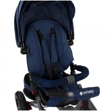 Triratukas Sun Baby QPLAY 5in1 Little Tiger, mėlynas 6