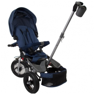 Triratukas Sun Baby QPLAY 5in1 Little Tiger, mėlynas 7